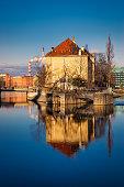 city industrial skyline view wroclaw poland