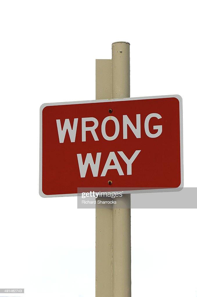 Wrong Way : Stock Photo