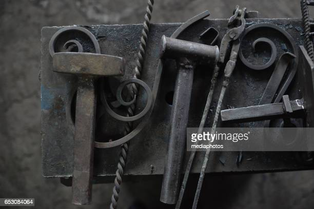 Wrought iron and tools