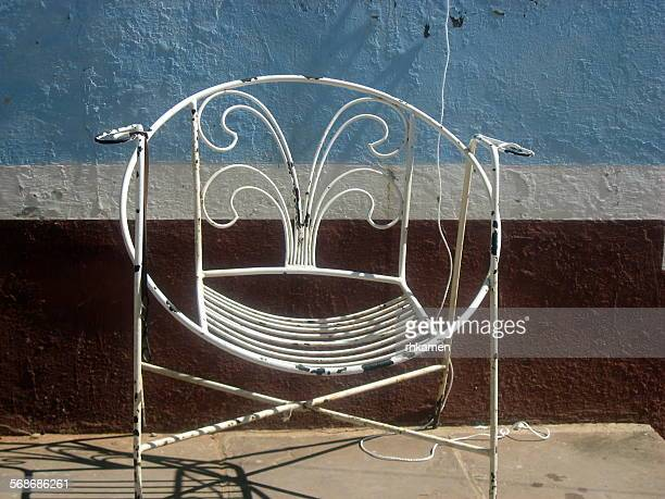 Wrought iron chair, Trinidad, Cuba