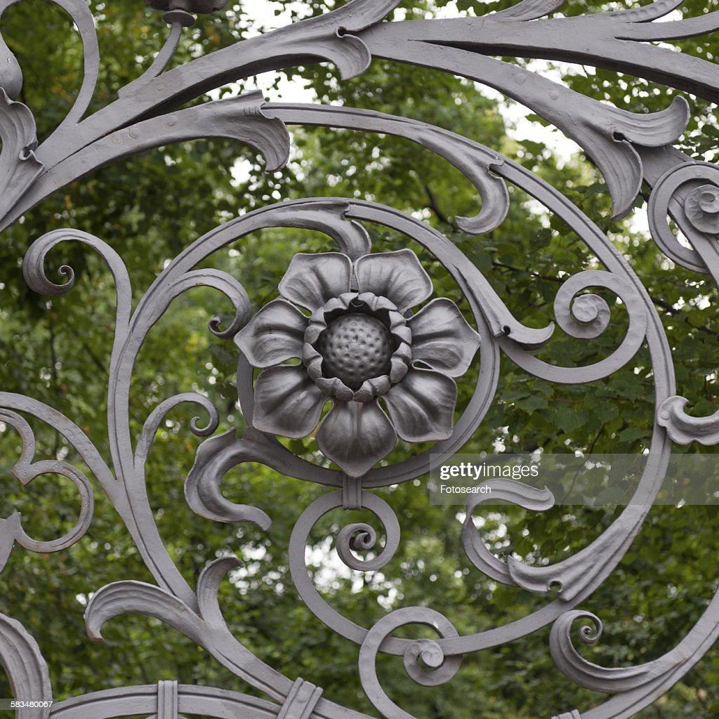 Wrought iron gate : Stock Photo
