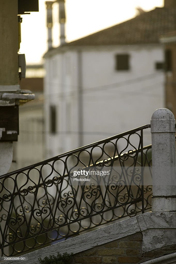 Wrought Iron Handrail On Outdoor Stairs Foto De Stock Getty Images