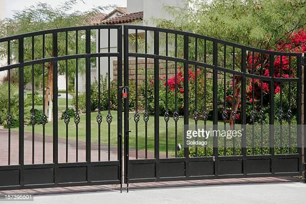 Hierro forjado puertas de seguridad