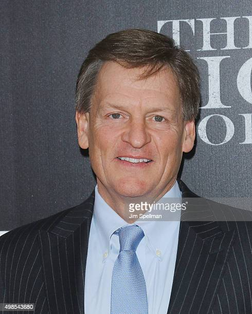 Wtiter Michael Lewis attends the 'The Big Short' New York premiere at Ziegfeld Theater on November 23 2015 in New York City