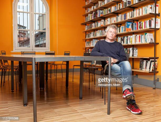 Wtriter Alessandro Baricco poses for a portrait on March 2013 in Turin Italy
