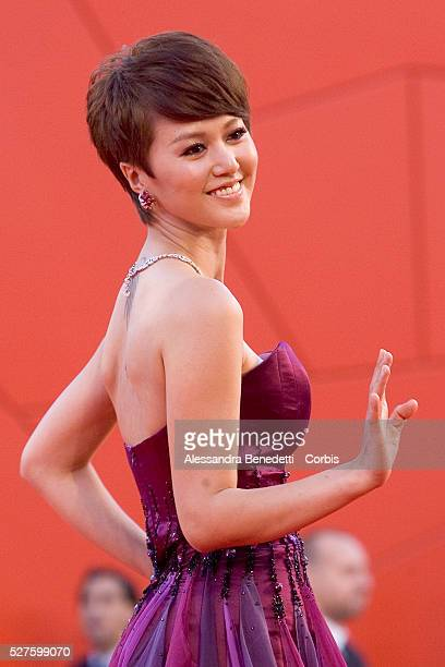 Wu Anya attends the awards ceremony of the 66th Venice Film Festival