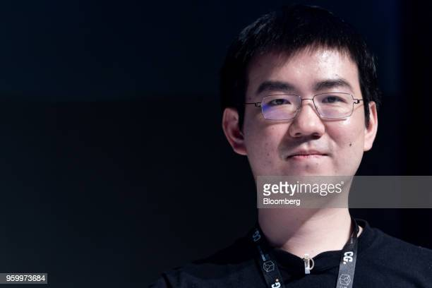Wu Jihan cofounder of Bitmain Technologies Ltd looks on during the Coingeek Conference in Hong Kong China on Friday May 18 2018 The conference runs...