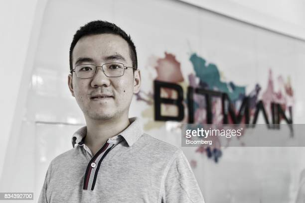 Wu Jihan cofounder of Bitmain Technologies Ltd poses for a photograph at the company's headquarters in Beijing China on Thursday Aug 10 2017...