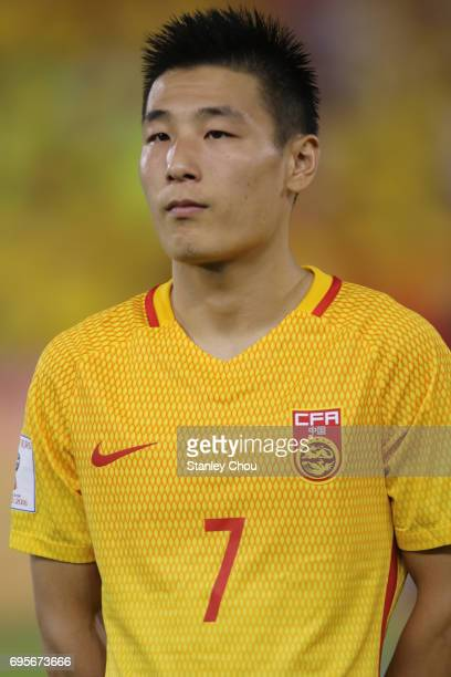 Wu Lei of China during the 2018 FIFA World Cup Asian Qualifier Group A Final Round match between Syria and China at Hang Jebat Stadium on June 13...