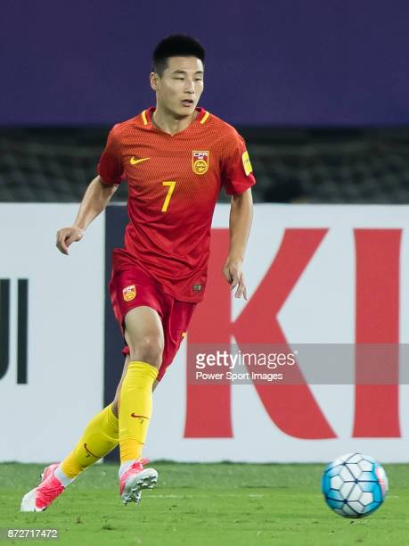 Wu Lei of China in action during their 2018 FIFA World Cup Russia Final Qualification Round Group A match between China PR and Uzbekistan on 31...
