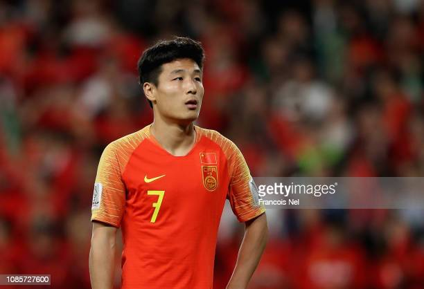 Wu Lei of China looks on during the AFC Asian Cup round of 16 match between Thailand and China at Hazza Bin Zayed Stadium on January 20 2019 in Al...