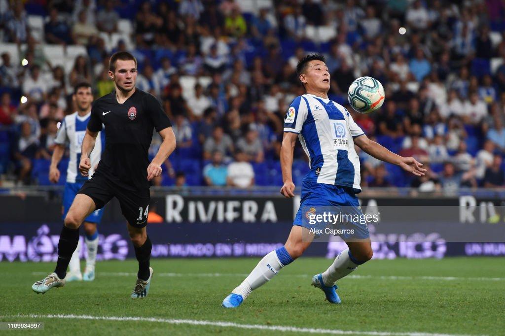 Espanyol v Zoryan Luhansk - UEFA Europa League Play Off : Fotografía de noticias