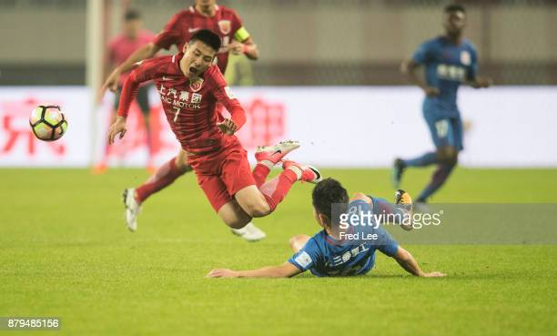 Wu lei of Shanghai SIPG in action during the 2017 CFA Cup Final Round match between Shanghai SIPG and Shanghai Greenland Shenhua at Shanghai Stadium...
