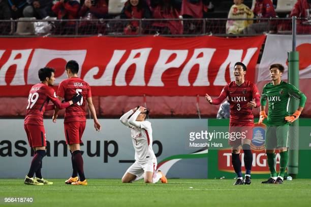 Wu Lei of Shanghai SIPG reacts during the AFC Champions League Round of 16 first leg match between Kashima Antlers and Shanghai SIPG at Kashima...