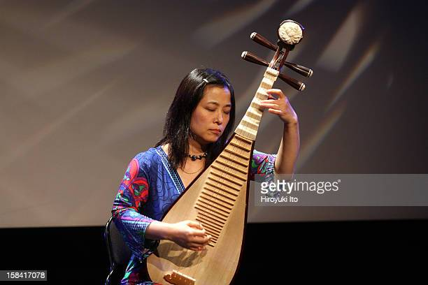 Wu Man on pipa performing at Symphony Space's Thalia Theater on Friday night, December 7, 2012.