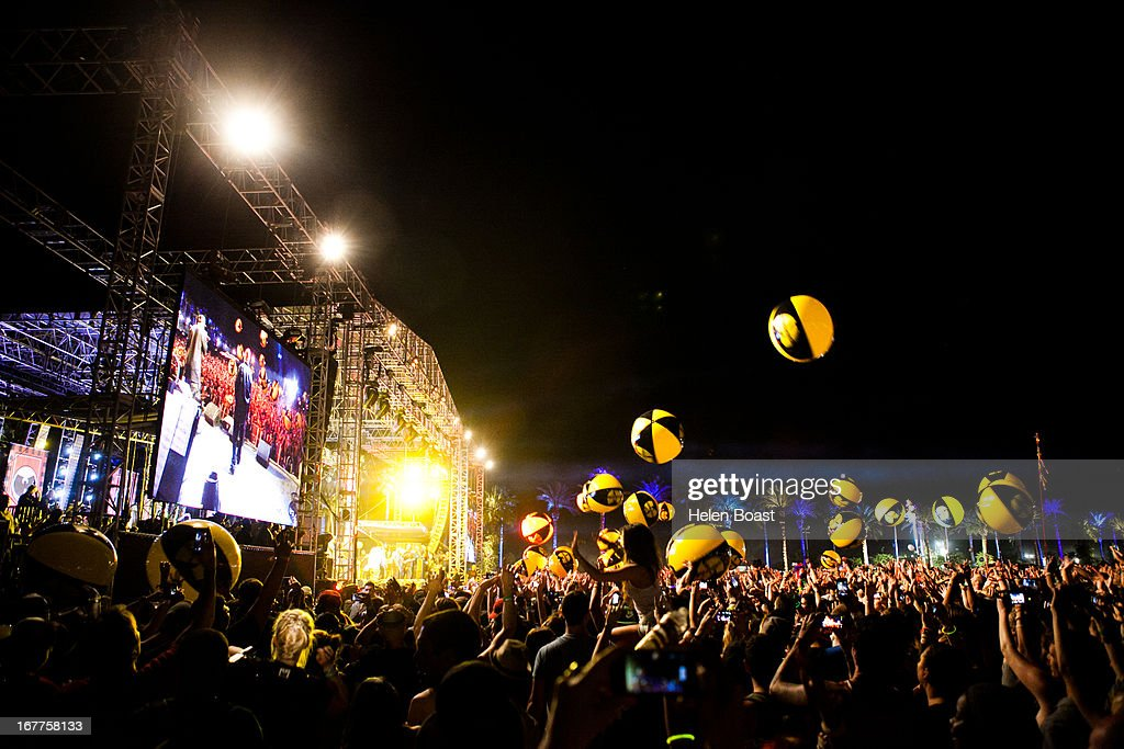 Wu Tang Clan fans at 2013 Coachella Music Festival on April 21, 2013 in Indio, California.