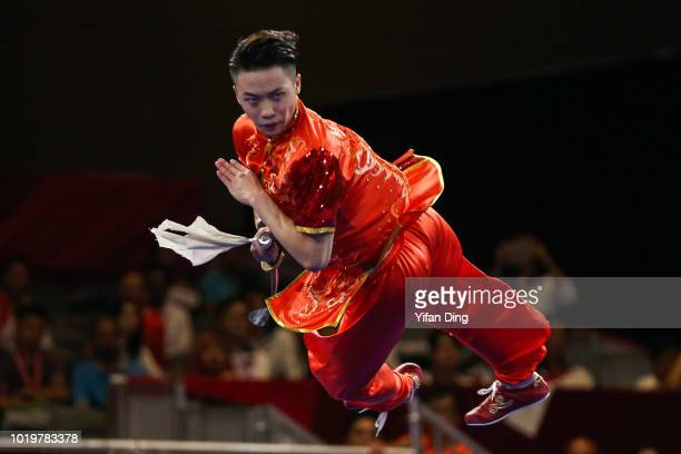 Gold medalist Ri Song Gum of DPR Korea in action during the medal ceremony of women's 48kg weightlifting on day two of the Asian Games on August 20...