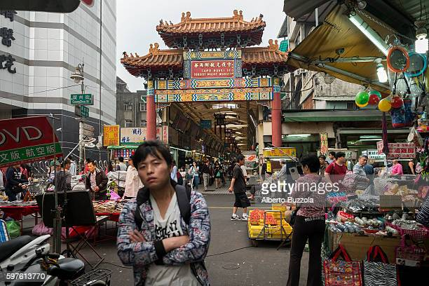 Wuan Hua Taipei oldest area Huaxi Market entrance and one of the city very popular attraction for both domestic and international tourists