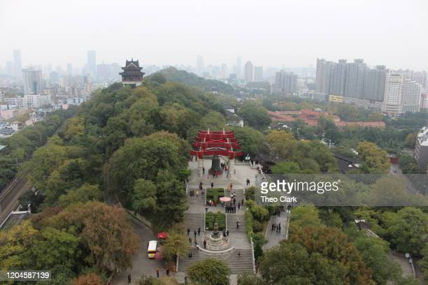 wuhan city seen from yellow crane tower - wuhan stock pictures, royalty-free photos & images