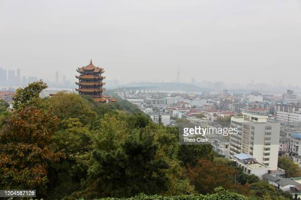 wuhan city skyline - wuhan stock pictures, royalty-free photos & images