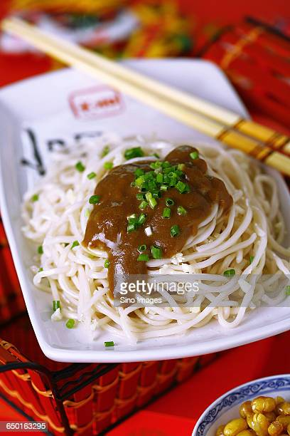 wuhan hot dry noodles - wuhan stock photos and pictures