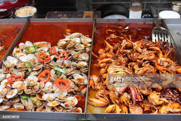 wuhan seafood - wuhan city stock photos and pictures