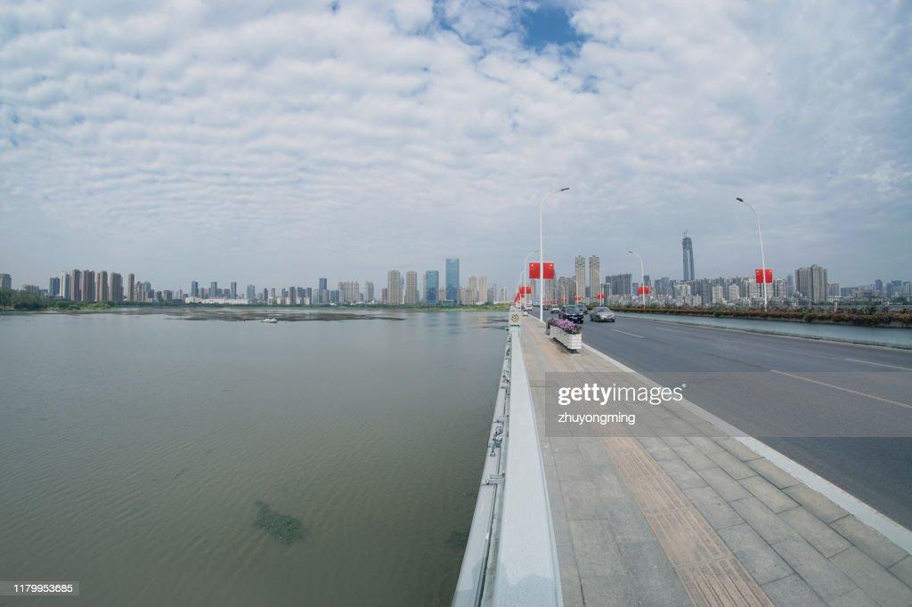 Wuhan Shahu Bridge,Hubei Province : Stock Photo