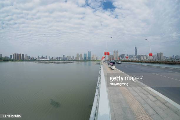 wuhan shahu bridge,hubei province - wuhan stock photos and pictures
