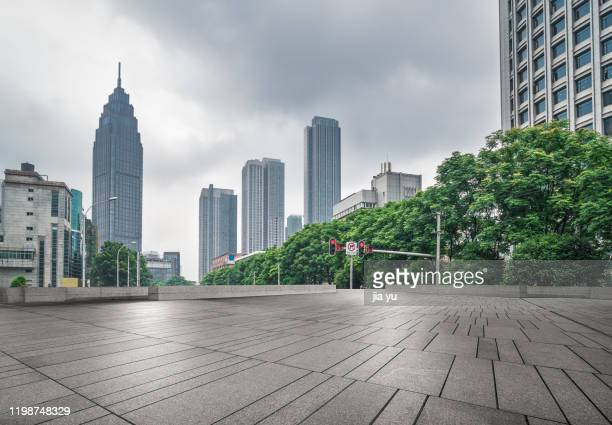 wuhan urban architecture and slate platform - wuhan stock pictures, royalty-free photos & images