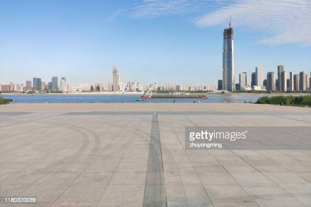 wuhan urban skyline,yangtze river - wuhan stock photos and pictures