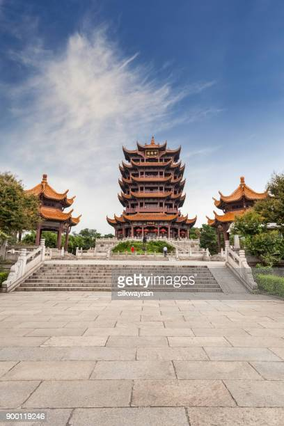 wuhan yellow crane tower - wuhan stock photos and pictures