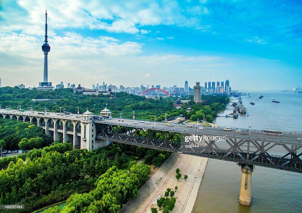 WuHanYangtze River Bridge : Stock Photo