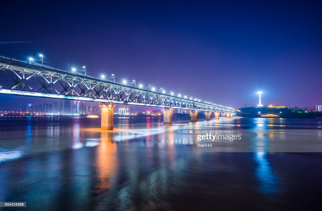 WuHanYangtze River Bridge : Stock Photo