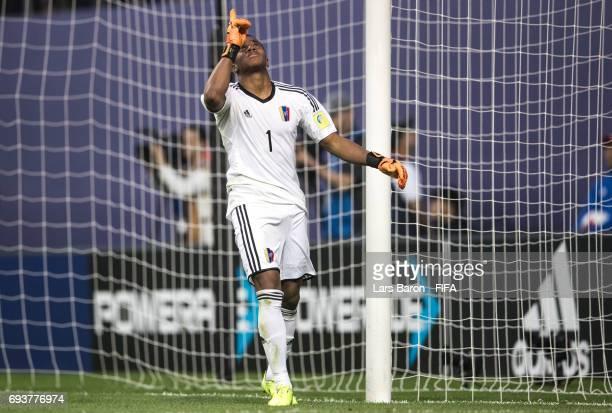 Wuilker Farinez of Venezuela celebrates during the FIFA U20 World Cup Korea Republic 2017 Semi Final match between Uruguay and Venezuela at Daejeon...