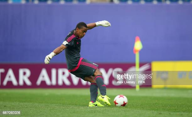 Wuilker Farinez of Venezuela scores from the penalty spot during the FIFA U20 World Cup Korea Republic 2017 group B match between Venezuela and...