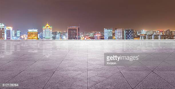 Wujiaochang night with marble platform