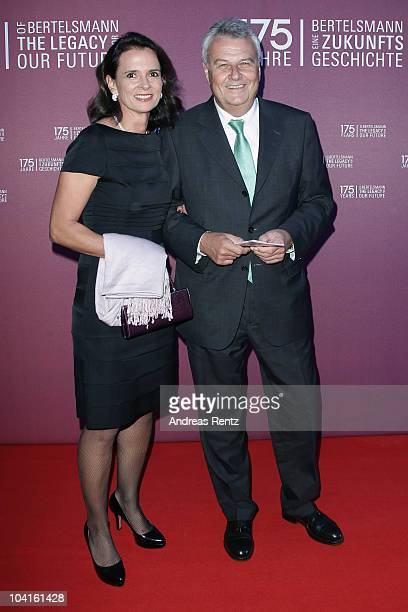 Wulf Bernotat and Constanze Krieger arrive for the Bertelsmann 175 years celebration ceremonial act at the Konzerthaus am Gendarmenmarkt on September...