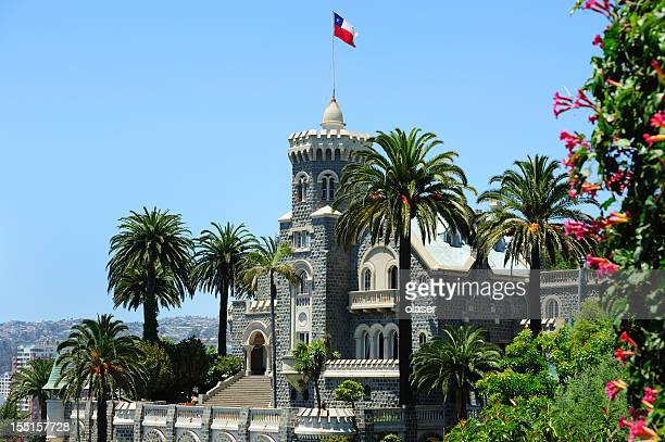 wulff castle in vina del mar - valparaiso chile stock pictures, royalty-free photos & images