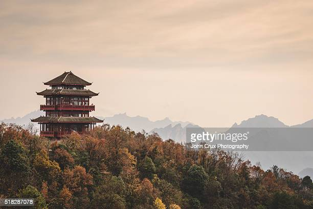 wulingyuan pagoda - pagoda stock pictures, royalty-free photos & images