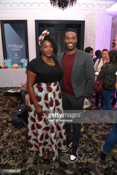 Wunmi Mosaku and Yahya AbdulMateen II attend The Hollywood Reporter TIFF Studio presented by St Regis MAC and Martell at The St Regis Toronto on...