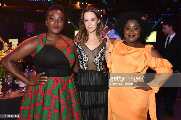 Wunmi Mosaku Chloe Pirrie and Susan Wokoma attend the British Academy Television Craft Awards at The Brewery on April 23 2017 in London United Kingdom