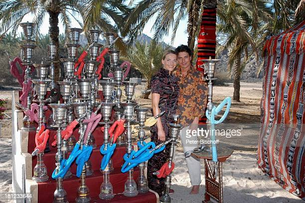 Tanja Wedhorn Pascal Breuer Dreharbeiten der ZDFReihe Traumschiff Folge 49 Oman Episode 1 Wunschkind Muscat/Oman/Arabien Hotel Al Bustan Palace...