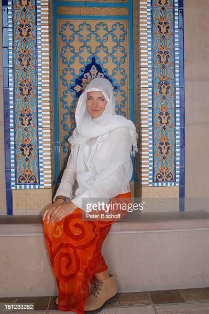 Tanja Wedhorn Dreharbeiten der ZDFReihe Traumschiff Folge 49 Oman Episode 1 Wunschkind Muscat/Oman/Arabien Grosse Moschee von Sultan Qaboos...