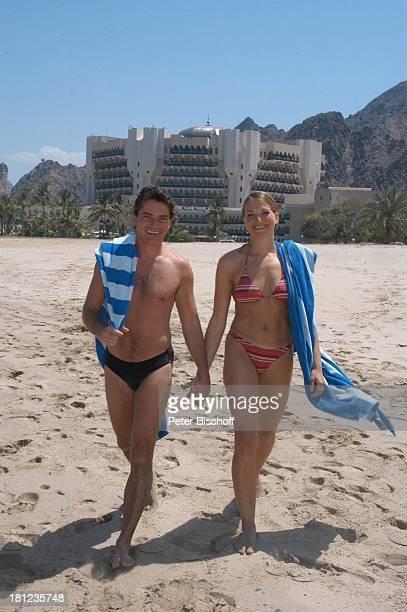Pascal Breuer Tanja Wedhorn Dreharbeiten der ZDFReihe Traumschiff Folge 49 Oman Episode 1 Wunschkind Muscat/Oman/Arabien Hotel Al Bustan Palace...