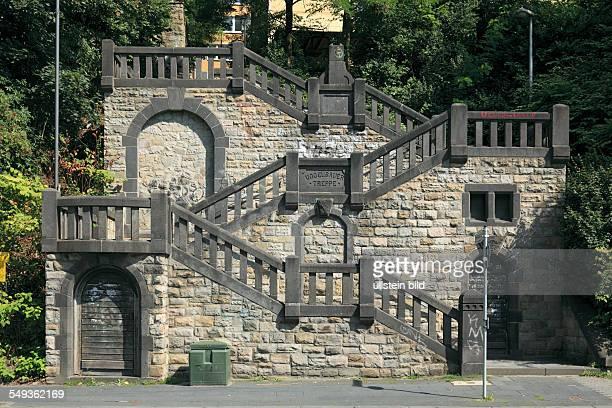 Wuppertal Elberfeld Vogelsaue stairs outside staircase between FriedrichEbert Street Vogelsaue and Nuetzenberg hill