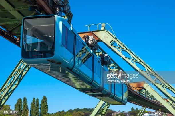 Wuppertal North RhineWestphalia suspension railway between Loher bridge and AdlerbrÙckeDeutschland