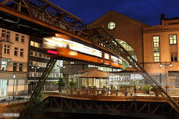 wuppertal schwebebahn - monorail stock pictures, royalty-free photos & images