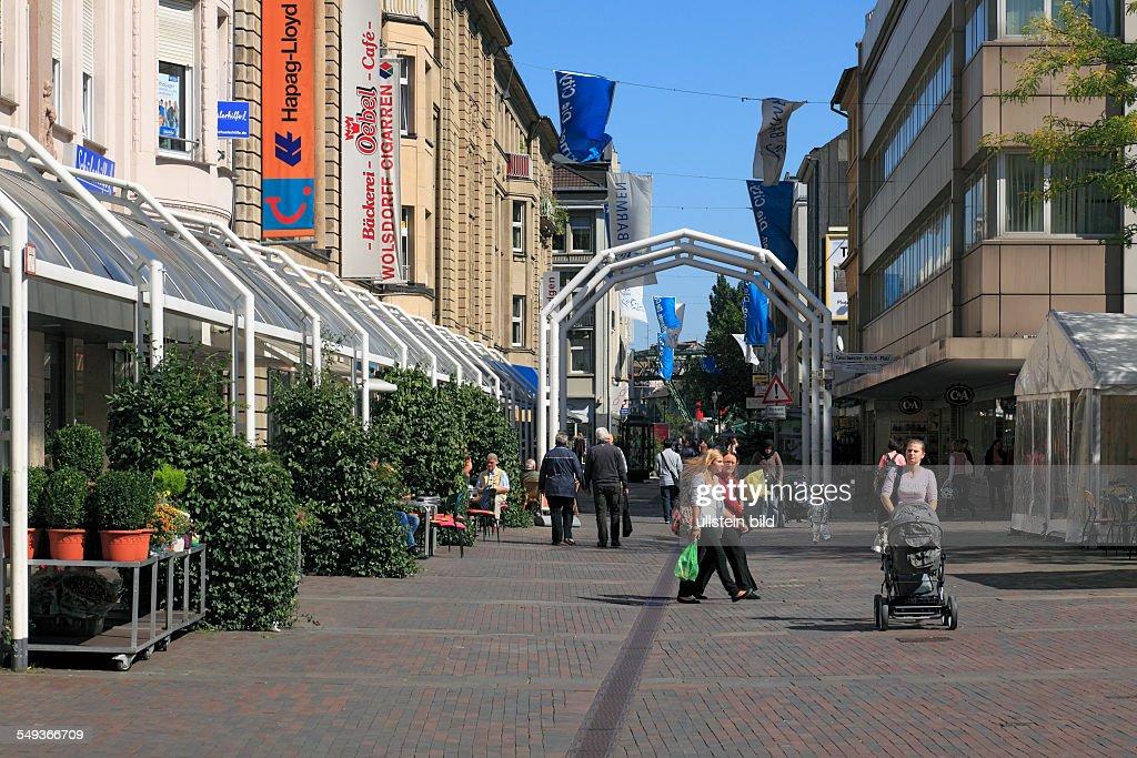 Wuppertal Barmen Werth Geschwister Scholl Platz Pedestrian Zone