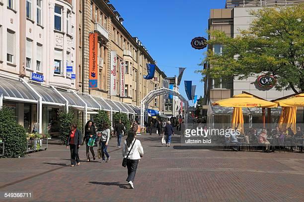 WuppertalBarmen Werth GeschwisterSchollPlatz pedestrian zone shopping street