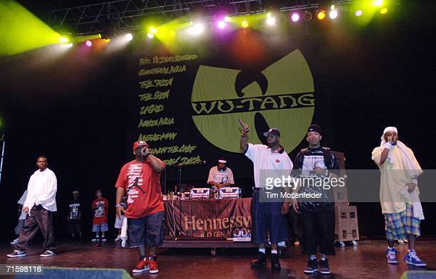 WuTang Clan perform as part of 'Rock the Bells IV' at the Sleep Train Pavilion on August 6 2006 in Concord California